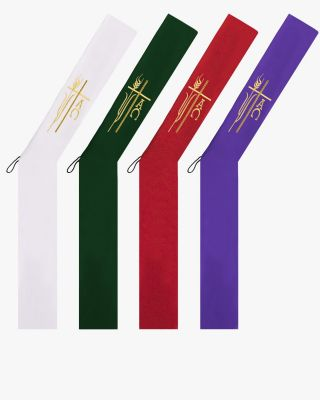 Alpha Omega Wheat Deacon Stoles - 4 Colors Available