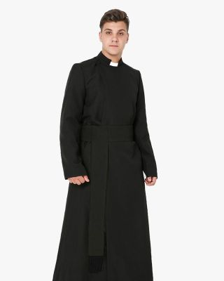 Black Anglican Cassock and Band Cincture Package-Black