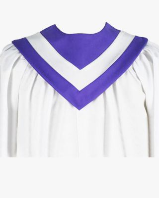 Custom V Choir Stoles with Contrasting Strip