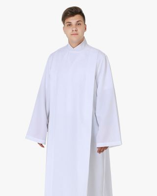 Front Wrap White Clergy Cassock Alb