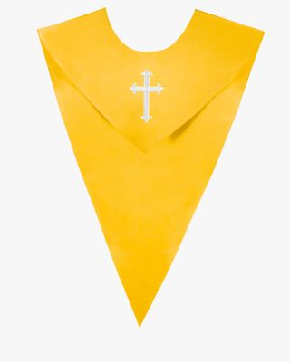 One Color V Stoles with Cross - 5 Colors Available