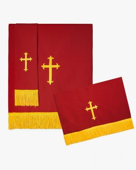 Reversible Paraments with Embroidered Cross IHS - 2 Color Combinations Available