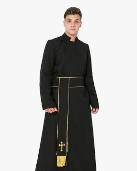 Anglican Cassock and Band Cincture with Cross Package
