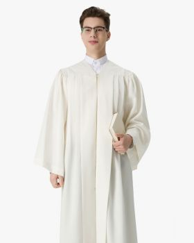 Senior Fluted Trinity Choir Robes with Open Sleeves - 3 Colors Available