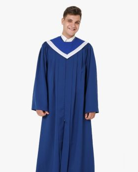 Senior Fluted Trinity Choir Robes Open Sleeve with Reversible Stoles