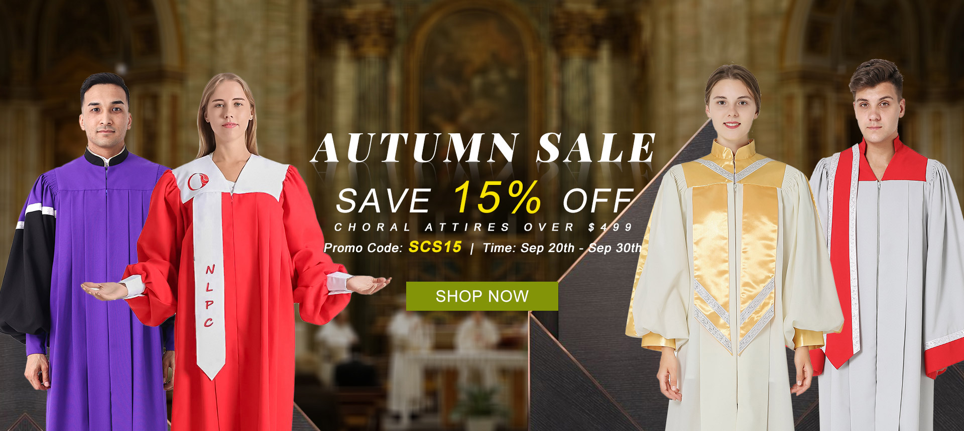 Popular Styles and Custom-made Choral Robes and Stoles Just for You